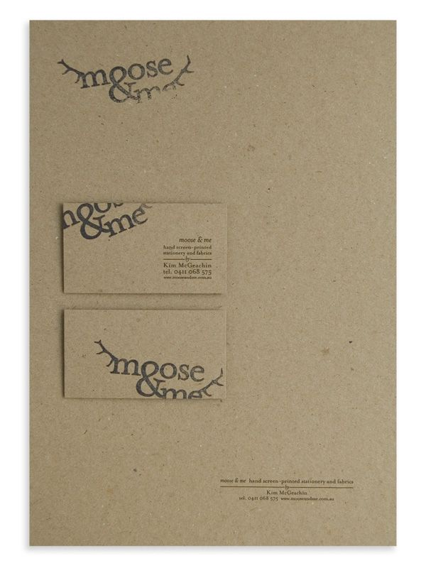 107 best cards images on pinterest graphics business cards and moose me is a melbourne based company specializing in hand screen printed stationery and fabrics all designed in house the business required strong reheart Gallery