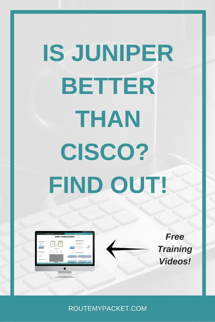 Learn why Juniper is better than Cisco and access FREE 3-part mini-course designed to teach you Junos fundamentals along with a mini-configuration guide.   Become a Juniper expert and become the best at Computer Network Design, network security and lead the Juniper network market as one of the best network professional out there.