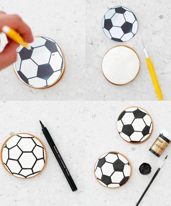 Football Cookies (Galletas decoradas pelota de fútbol) ~ My Lovely Food