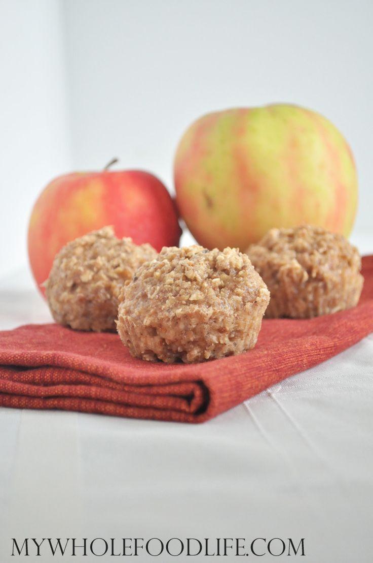 Flourless Apple Almond Muffins