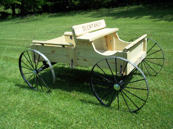 Small Olentangy Indian cavern wagon by www.wmconstr.com  www.facebook.com/haywagon