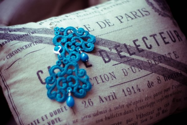 turquoise Nuage earrings