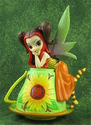 """Jasmine Becket-Griffith Teacup Fairy collection Photo of """"Treasured Originali-Tea"""" upcoming issue"""