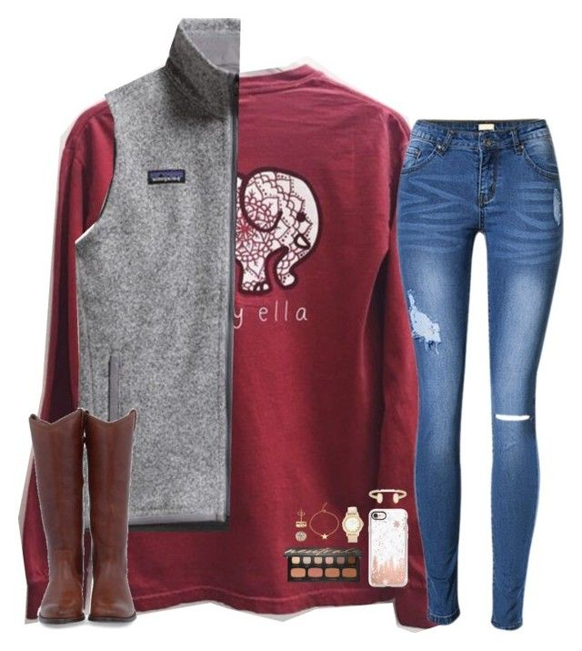 """""""hold for the applause"""" by hailstails ❤ liked on Polyvore featuring Patagonia, Frye, Casetify, Kendra Phillip, Bare Escentuals, Chico's and Kendra Scott"""