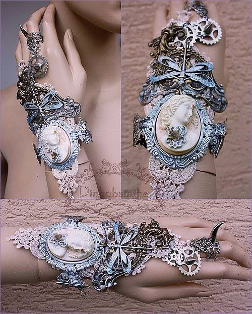Steampunk cuff/bracelet oh my! Can you ever have too many brass stampings?