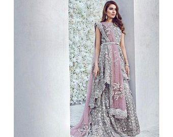 Elan inspired Pakistani Bridal outfit bridal gown | Etsy