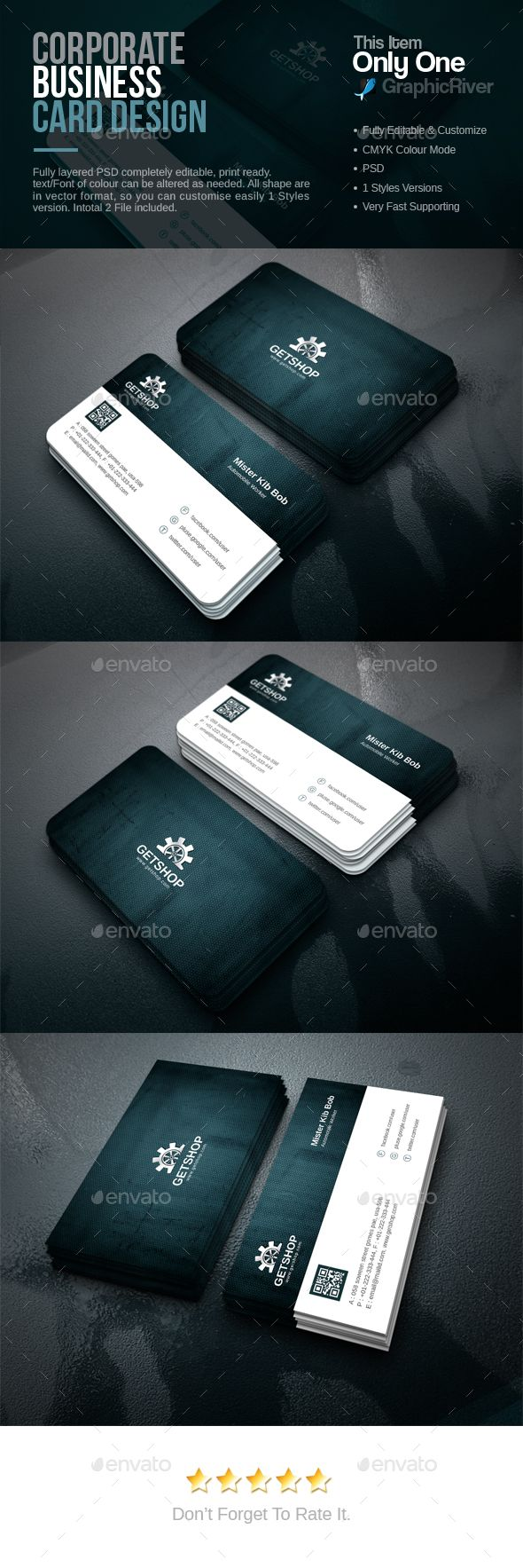 #Corporate Business Card - Corporate Business Cards Download here: https://graphicriver.net/item/corporate-business-card/16950049?reff=Classicdesignp