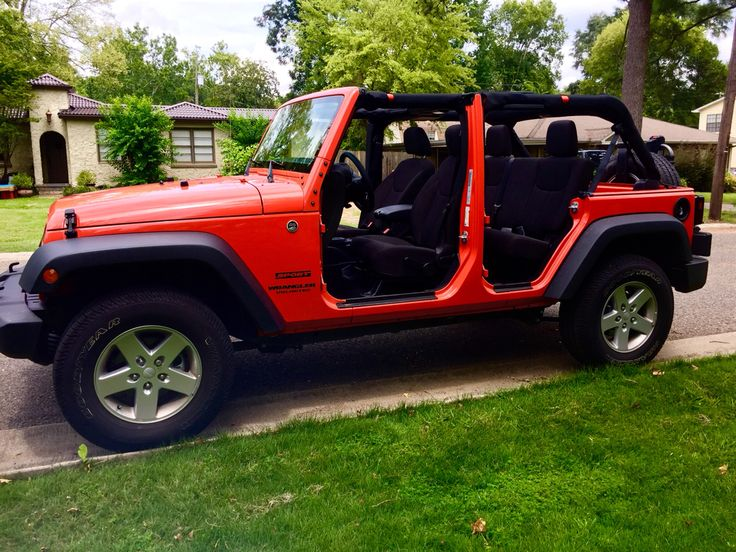 First time with the top and doors off.