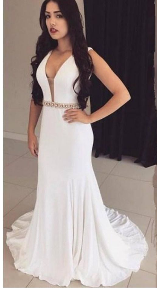 fiesta White Mermaid Prom Dresses Sexy #prom #promdress #dress #eveningdress #evening #fashion #love #shopping #art #dress #women #mermaid #SEXY #SexyGirl #PromDresses