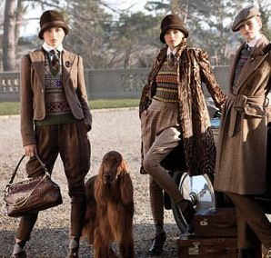 I totally dig the idea of menswear for women.  The heavy tweed and flannel fabrics, jackets, sweater vests, and muted colors make it perfect for fall.  This Ralph Lauren collection has a British flare to it, as well, which isn't too shabby in my book.