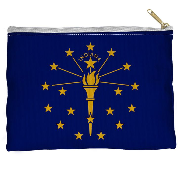 Indiana Flag Accessory Straight Bottom Pouch