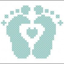 baby feet Pattern available on www.totallytemplates.co.uk