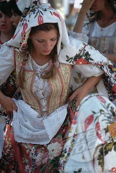 Italian Woman in Traditional Dress