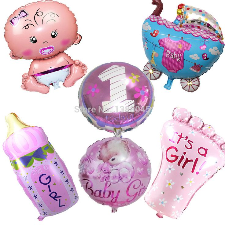 6pcs/lot Baby Shower Helium Foil Balloons Baby Boy Girl Birthday Party Decorations 1th Birthday Party Suppliers Air Balls | Price: US $5.38 | http://www.bestali.com/goto/32283376190/10