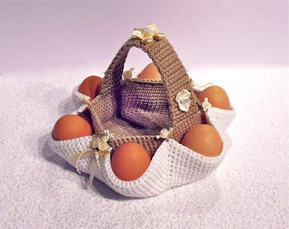 Crochet Egg Basket : thought I had seen an egg collecting basket pattern similar to this ...