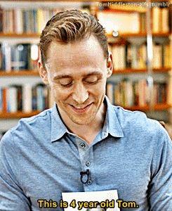 Tom Hiddleston, 4 year old Thomas Hiddleston