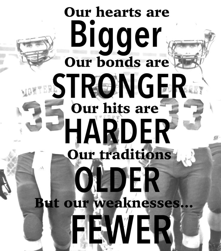 Football, Friday night lights, football slogans, football sayings, family, Monterey High School, MHS.