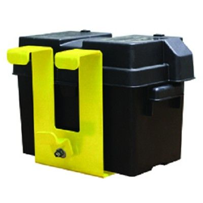 Hidden Power Under Bed Storage Tray,  Engineered as a no drill installation with quick disconnect electrical connectors this system made of high-impact powder-coated black plastic quickly attaches to the trucks frame under your truck and detaches for quick battery service. Your Price: $165.00