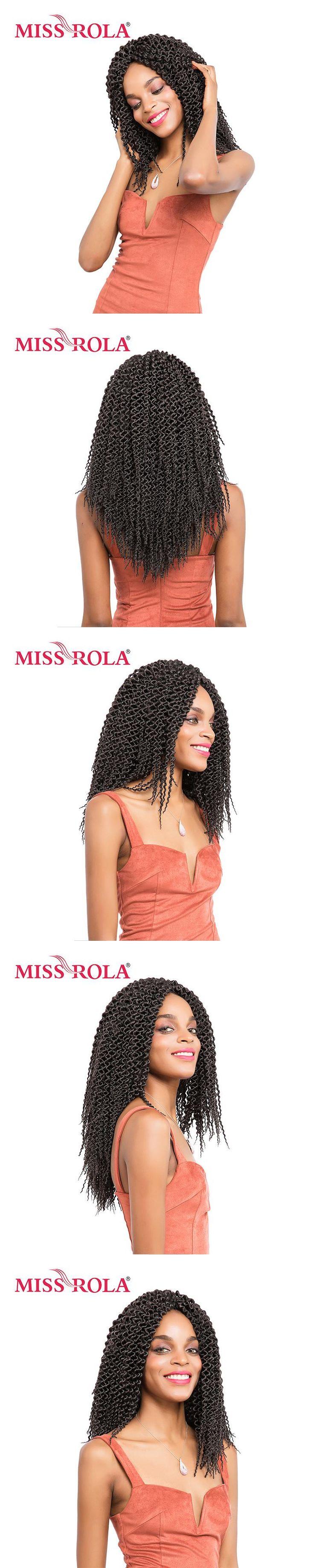 Miss Rola Pure Color Havana Twist Braids Hair 100g Kanekalon Low Temperature 13inch Synthetic Crochet Braiding Hair Extensions