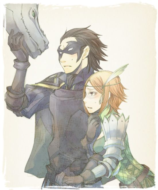 FE:A (still loving this couple XD!) Gerome and Noire ...