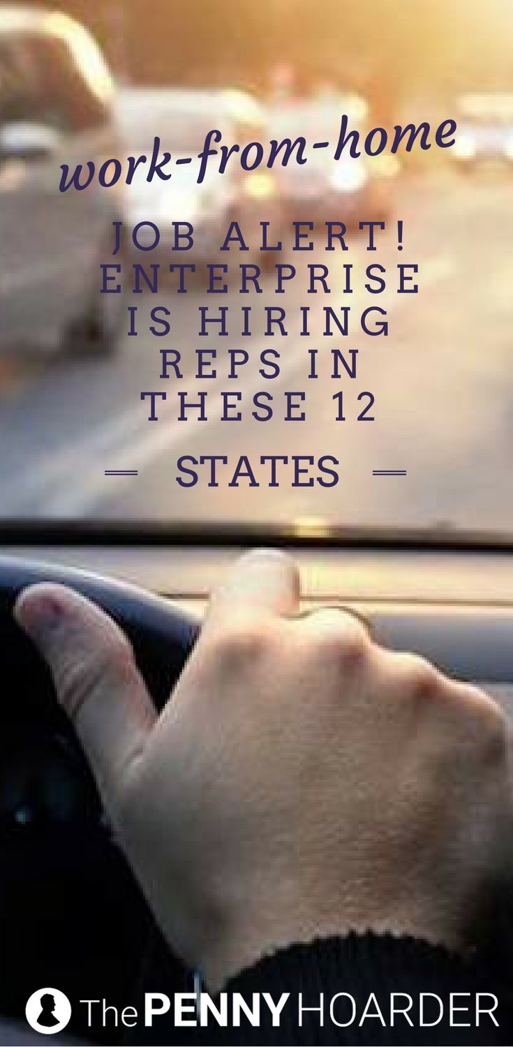 Work-From-Home Job Alert! Enterprise is Hiring Reps in These 7 States