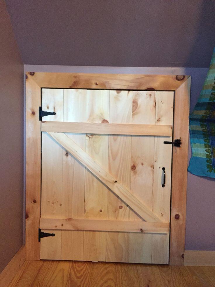 Crawl Space Barn Door In 2019 Attic Doors Attic Remodel