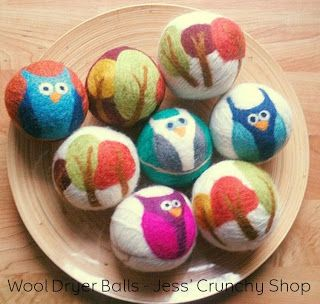 Wool dryer balls - decrease drying time by 30-50%, decrease static & wrinkles