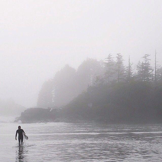 Into the mist and surf – a very west coast shot captured by @scottcbakken in #Tofino. #exploreBC #exploreCanada  hellobc.com