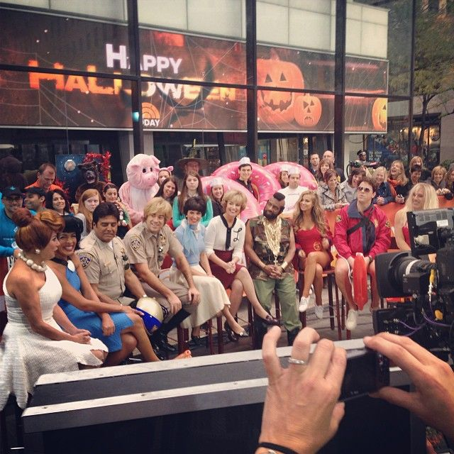 The Today Show anchors in their Halloween costumes.