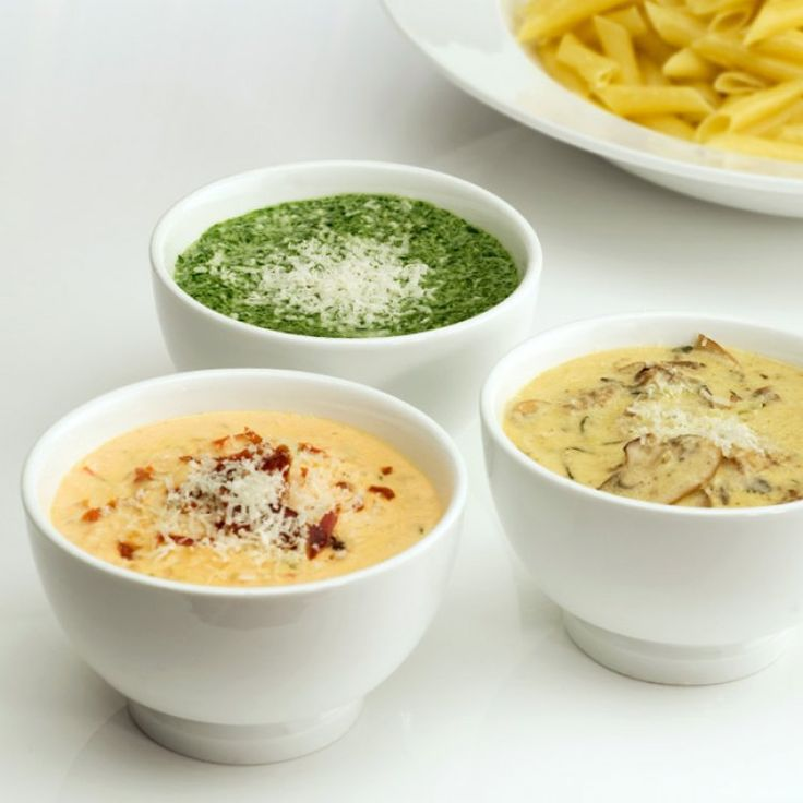 Trio de sauces aux fromages d'ici pour pâtes
