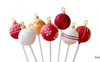 Christmas Tree Ornament Cake Pops by OhPopCakeShop on Etsy