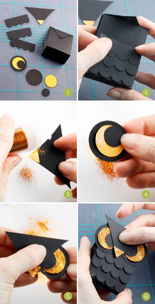 #papercraft #papercut DIY #halloween owl