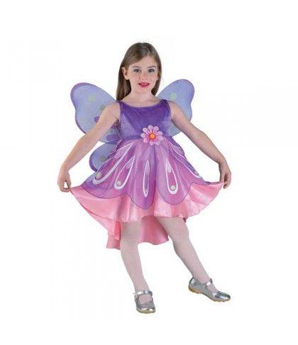 Πεταλούδα Πριγκίπισσα στολή για κορίτσια με φτερά