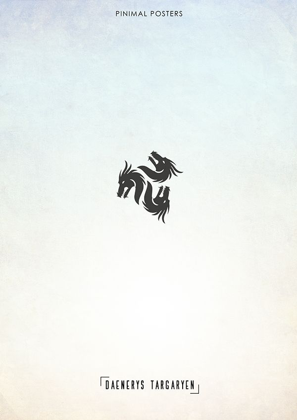 Game of thrones minimal charachter poster daenerys