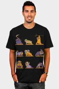 Pug Yoga Halloween Monsters Mens T Shirts