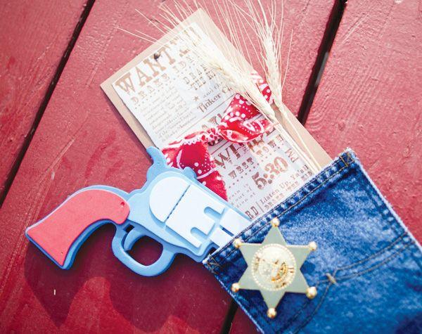 Denim pockets stuffed with utensils + money bag juice boxes