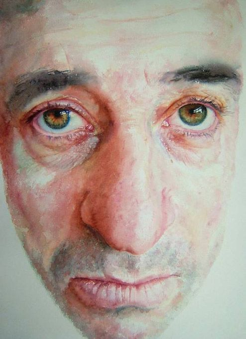 Carlos, 2007, watercolour on paper, 55 x 75cm - Sue Rubira