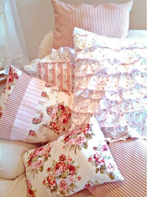 Shabby Chic Pink Pillows : The 181 best images about Pretty Cushions & Pillows on Pinterest Lace, Cottages and Shabby
