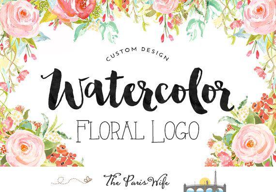 Custom Logo Design Wreath logo Floral logo Design by TheParisWife