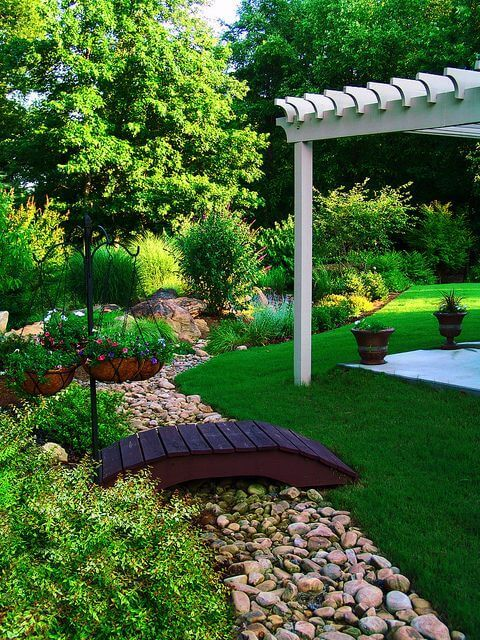 The 25 best Dry riverbed landscaping ideas on Pinterest Stones
