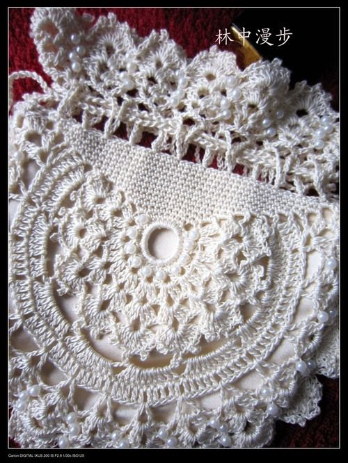 Lace Bags Crochet Pattern with chart