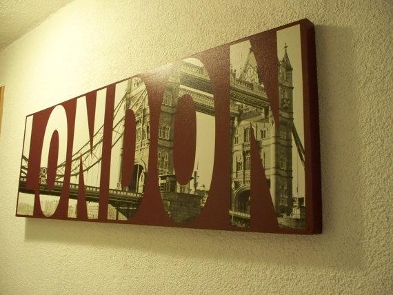 LONDON Bridge on Canvas by 7MinutesInHeaven on Etsy, $60.00