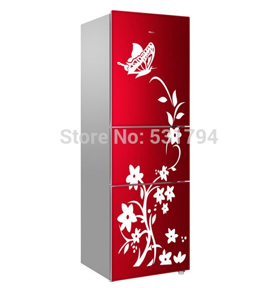 High quality 1piece with transter film special butterfly flower vine fridge sticker wall sticker glass sticker home decor ~