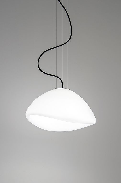 Ausum white s suspended dark design lighting glass white