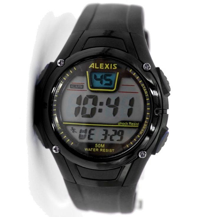 DW423D Fekete Watchcase Dátum Riasztás Háttérvilágítás vízálló Férfiak Nők Digital Watch