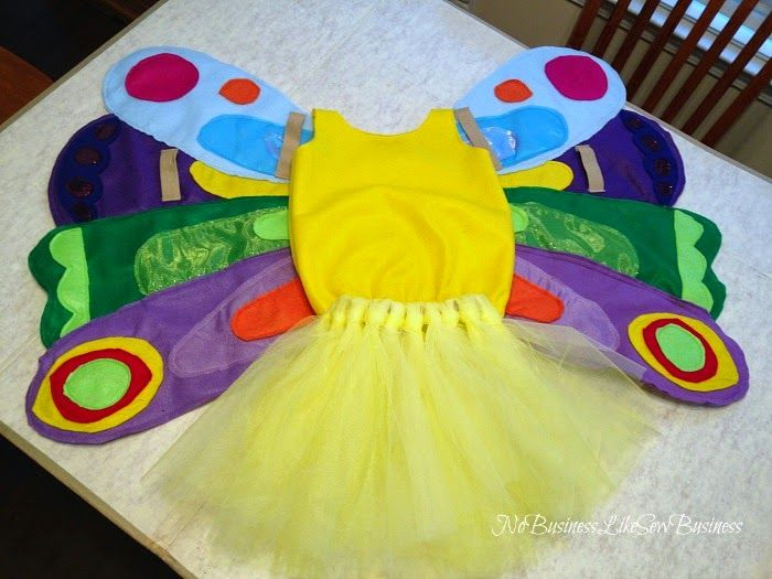 DIY Halloween Costumes for Kids The Hungry Caterpillar Butterfly Costume {No Business Like Sew Business}