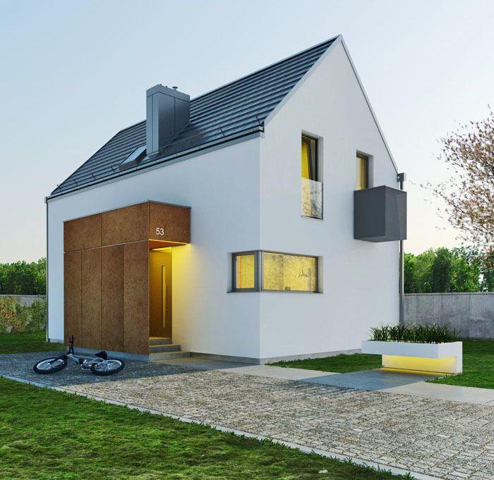 Optymalny - dom parterowy z poddaszem użytkowym | doomo