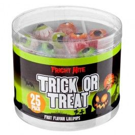 These scrummy lollies are a perfect treat for trick or treaters this Halloween.