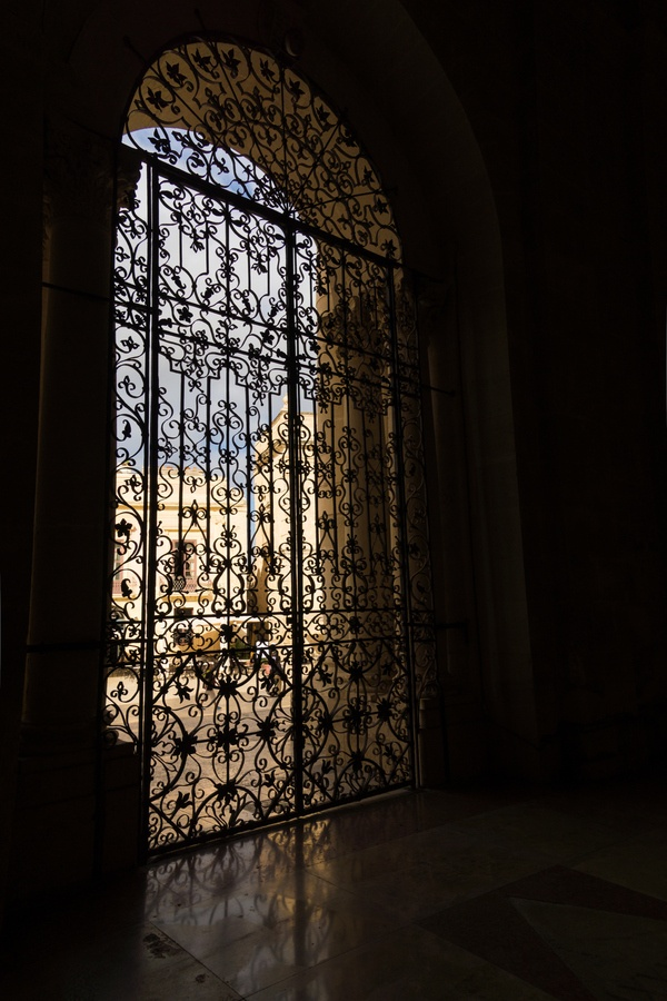 Cathedral door in Province of Syracuse, Italy