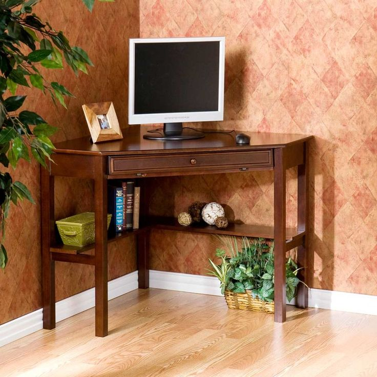 Adorable Small Computer Desk For Your Office Needs: Wooden Ideas Small  Computer Desk Design ~